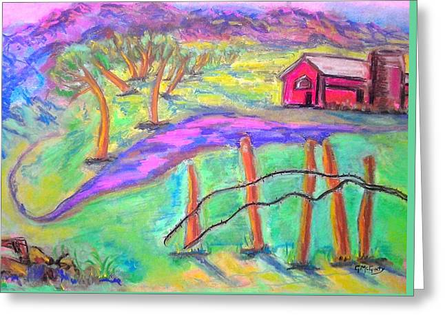 Crooked Fence Greeting Cards - The Crooked Ranch Greeting Card by Gayle McGinty
