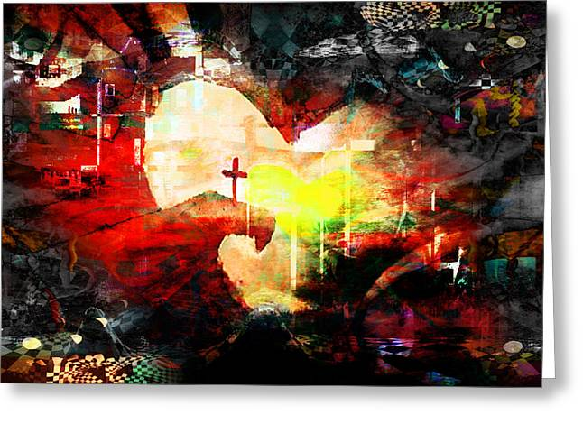 Calvary Greeting Cards - The cross 16 Greeting Card by Thomas Kostiuk