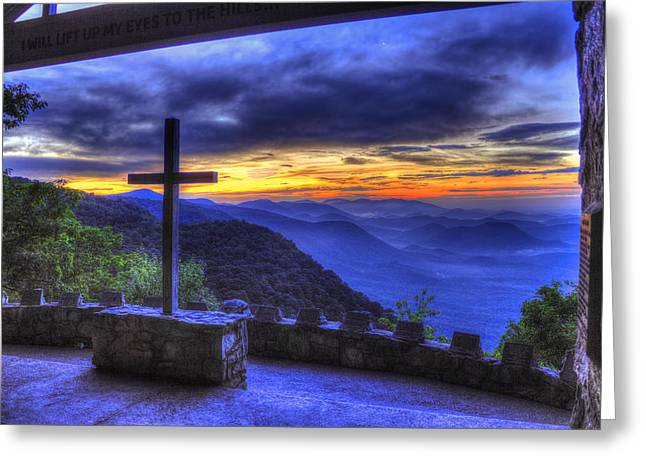 Forgiveness Photographs Greeting Cards - The Cross Pretty Place Chapel Greeting Card by Reid Callaway