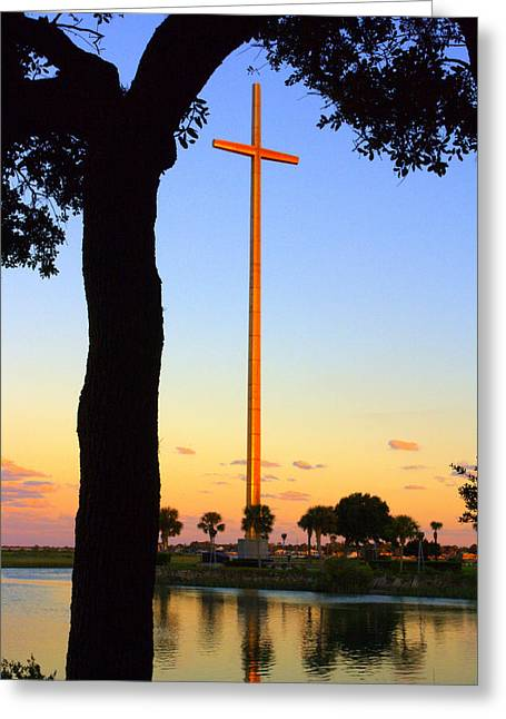 Richard Burr Greeting Cards - The Cross Greeting Card by Richard Burr