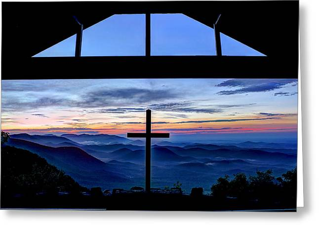 The Nature Center Greeting Cards - The Cross Unmerited Love Pretty Place Chapel Greeting Card by Reid Callaway