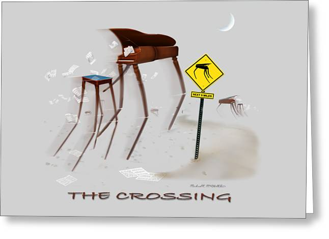 Storm Drawings Greeting Cards - The Crossing SE Greeting Card by Mike McGlothlen