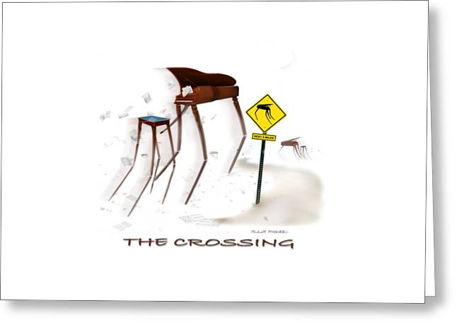 Storm Clouds Drawings Greeting Cards - The Crossing SE Greeting Card by Mike McGlothlen