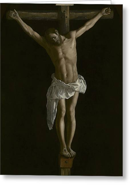 The Crucifixion Greeting Card by Francisco de Zurbaran