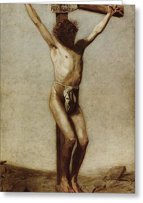 Religious Art Greeting Cards - The Crucifixion Greeting Card by Thomas Eakins