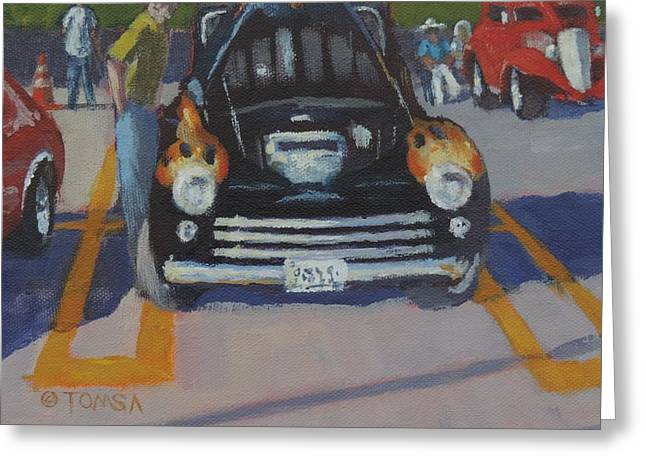 Owner Greeting Cards - The Cruise In Greeting Card by Bill Tomsa