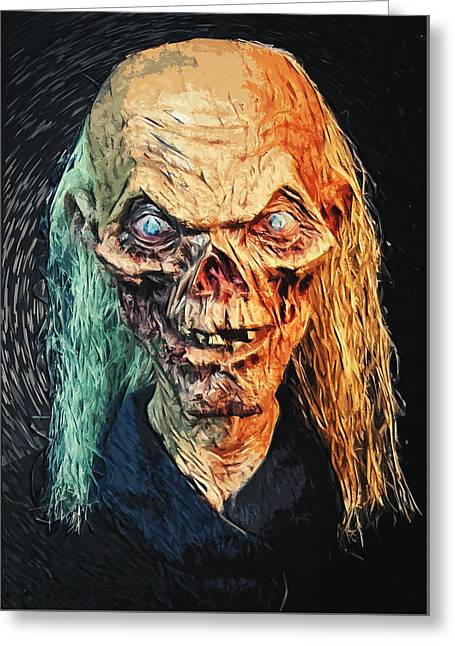 Creepy Digital Greeting Cards - The Crypt Keeper Greeting Card by Taylan Soyturk