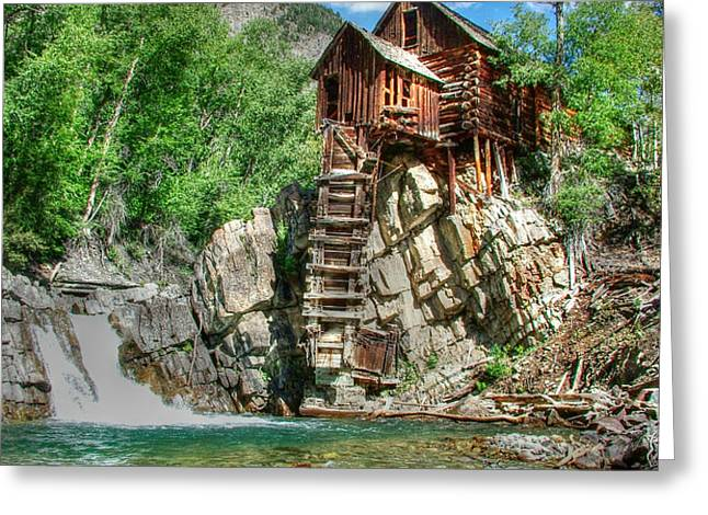 The Crystal Mill in Crystal Colorado Greeting Card by Ken Smith