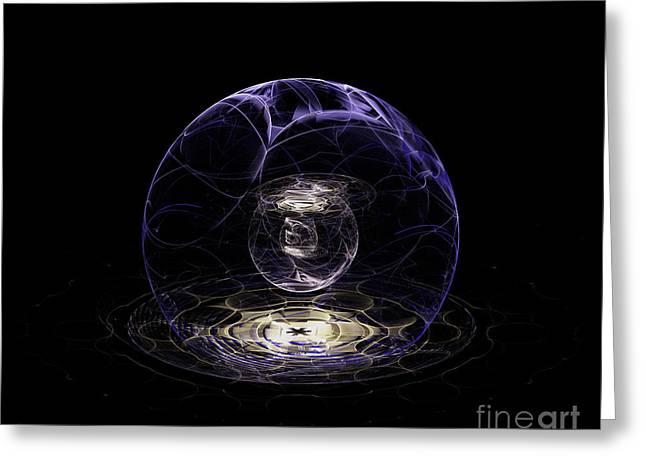 Fractal Orbs Greeting Cards - The Crystal Orb of Seeing Greeting Card by Jane Spaulding