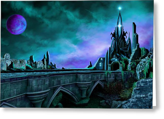Galactic Paintings Greeting Cards - The Crystal Palace - Nightwish Greeting Card by James Christopher Hill