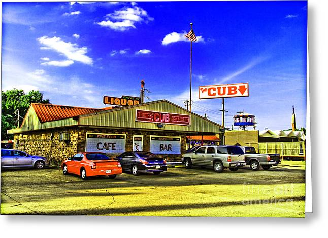 Cajun Cafe Greeting Cards - The CUB Greeting Card by Scott Pellegrin