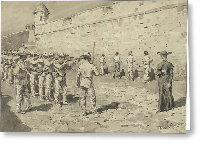 The Cuban Martyrdom Greeting Card by Frederic Remington