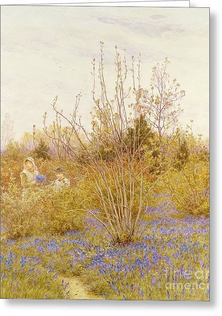 Early Spring Greeting Cards - The Cuckoo Greeting Card by Helen Allingham
