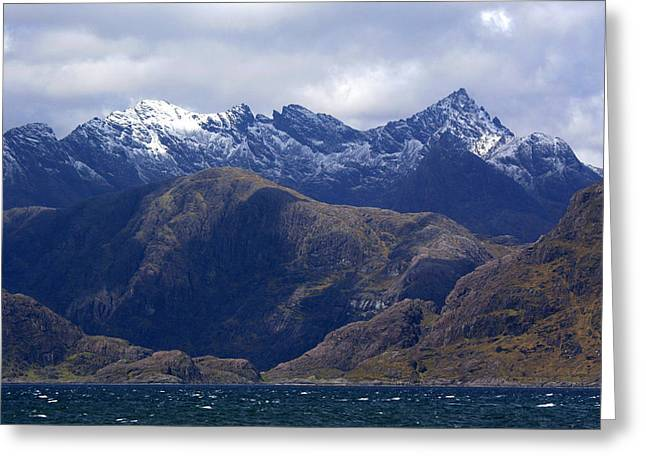 The Cuillin Mountains Isle of Skye Greeting Card by John McKinlay
