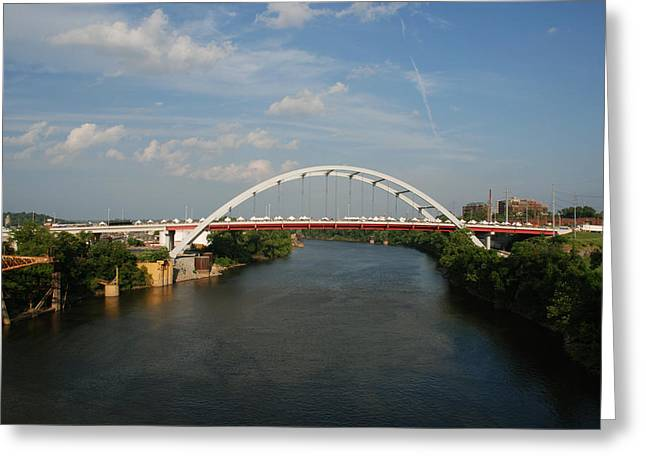 Country Music Town Greeting Cards - The Cumberland River in Nashville Greeting Card by Susanne Van Hulst