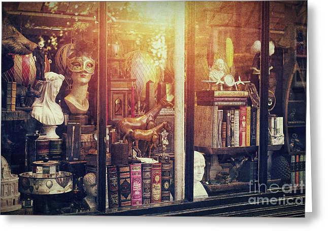 The Curiosity Shop Greeting Card by Tim Gainey
