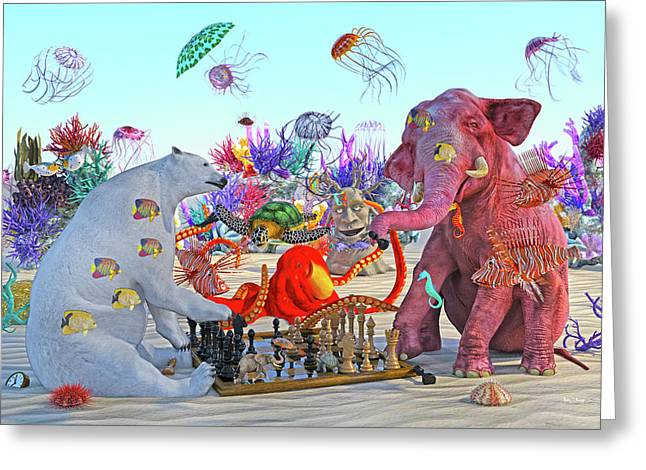 The Curious Game Hc Greeting Card by Betsy Knapp