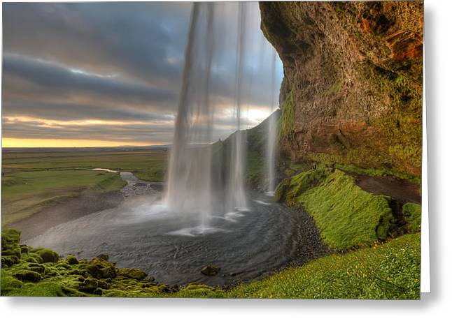 Iceland Greeting Cards - The Curtrain Greeting Card by Amnon Eichelberg