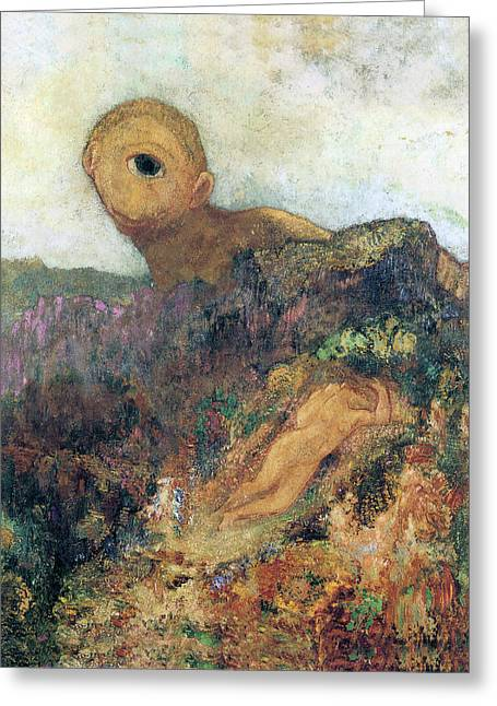The Cyclops Greeting Card by Odilon Redon