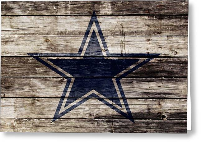 The Dallas Cowboys 2w Greeting Card by Brian Reaves