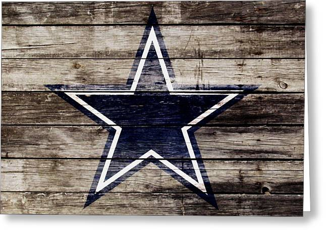The Dallas Cowboys 3w Greeting Card by Brian Reaves