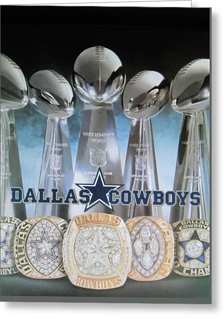 Jimmy Rogers Greeting Cards - The Dallas Cowboys Championship Hardware Greeting Card by Donna Wilson