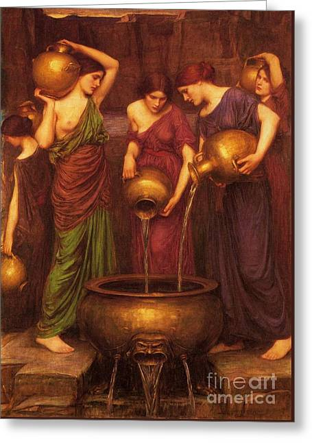 The Danaides Greeting Card by Pg Reproductions