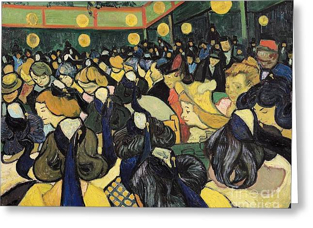 Arles Paintings Greeting Cards - The Dance Hall at Arles Greeting Card by Vincent Van Gogh