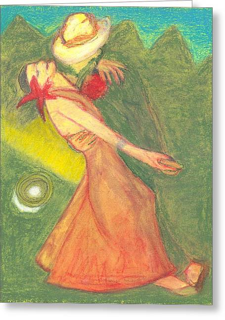 The Dance Greeting Card by Moneca AtleyLoring