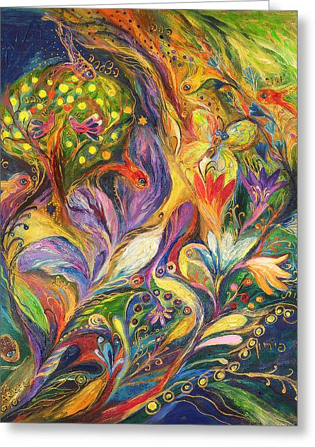 The Dance Of Lilies Greeting Card by Elena Kotliarker