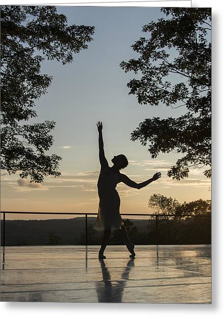 Ballet Dancers Greeting Cards - The Dancer Greeting Card by Roni Chastain