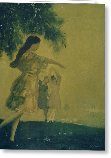 The Dancers Greeting Card by Arthur Bowen Davies