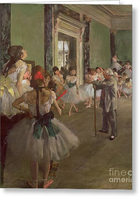 1834 Greeting Cards - The Dancing Class Greeting Card by Edgar Degas