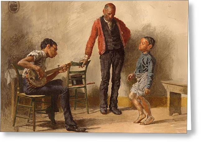 African-american Paintings Greeting Cards - The Dancing Lesson Greeting Card by Thomas Eakins