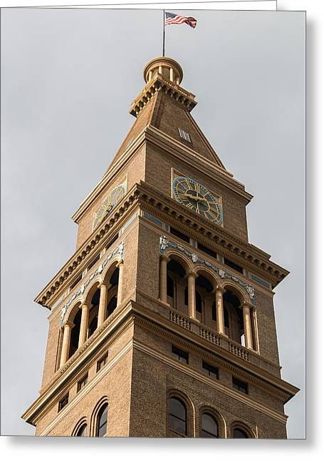 The Daniels And Fisher Tower In Denver Greeting Card by Tony Hake
