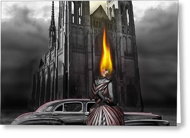 Larry Butterworth Greeting Cards - The Dark Angel Greeting Card by Larry Butterworth
