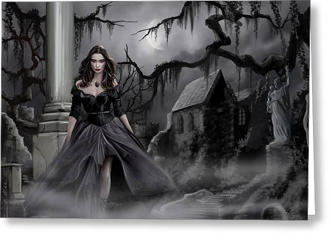 Stepping Stones Greeting Cards - The Dark Caster Comes Greeting Card by James Christopher Hill