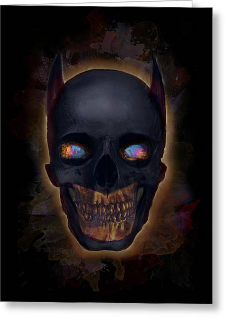 Creepy Digital Art Greeting Cards - The Dark Night Greeting Card by Ian Barefoot