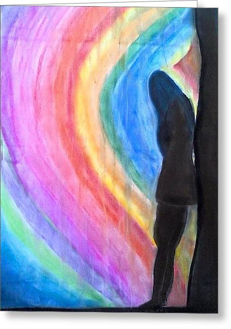 Wishes Pastels Greeting Cards - The Dark Passenger Greeting Card by Suhail Noor
