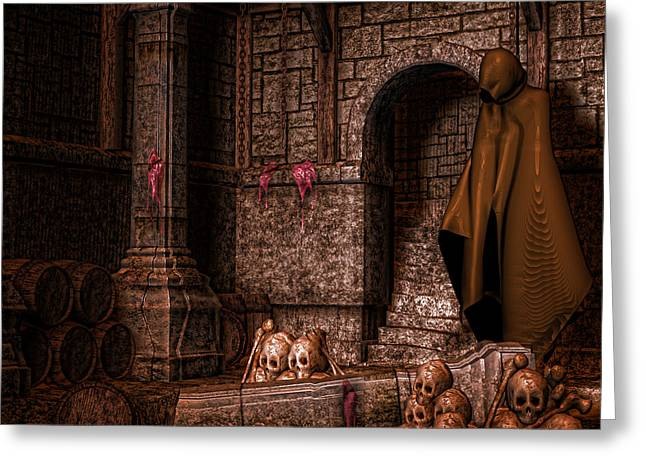 Dungeons Greeting Cards - The Dark Greeting Card by Sharon and Renee Lozen