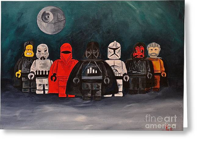Lego Greeting Cards - The Dark Side of Lego Greeting Card by Herschel Fall