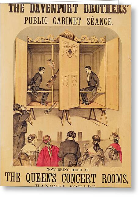 William Henry Harrison Greeting Cards - The Davenport Brothers Greeting Card by English School