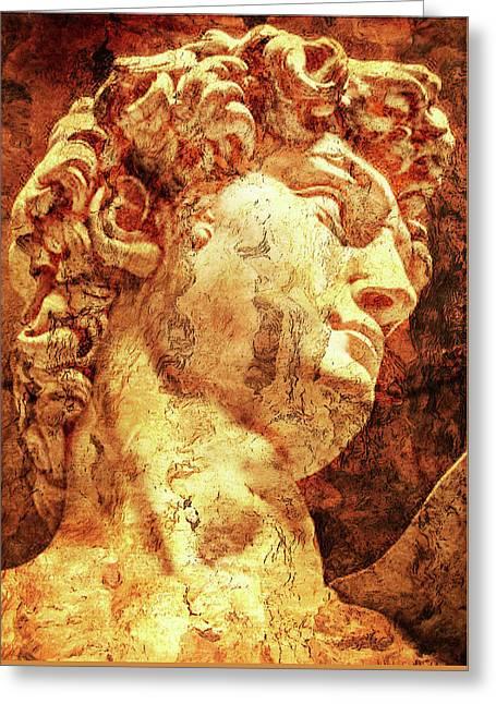 Michelangelos David Greeting Cards - The David By Michelangelo Greeting Card by Jose Espinoza
