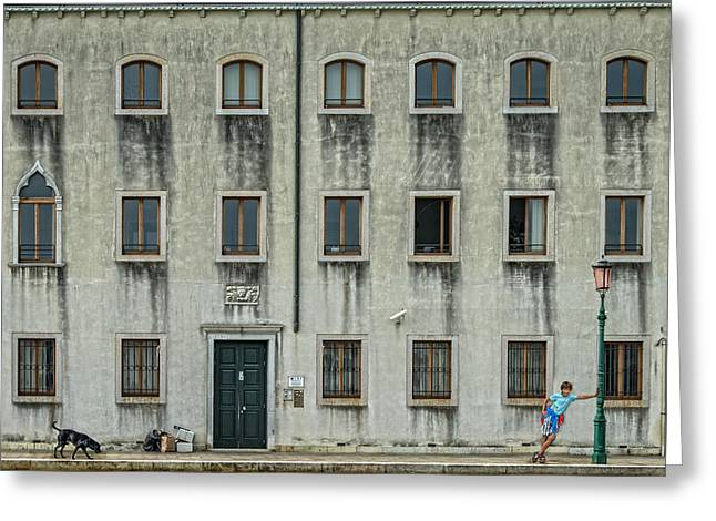 Urban Buildings Photographs Greeting Cards - The Day Nothing Happened Greeting Card by Piet Flour