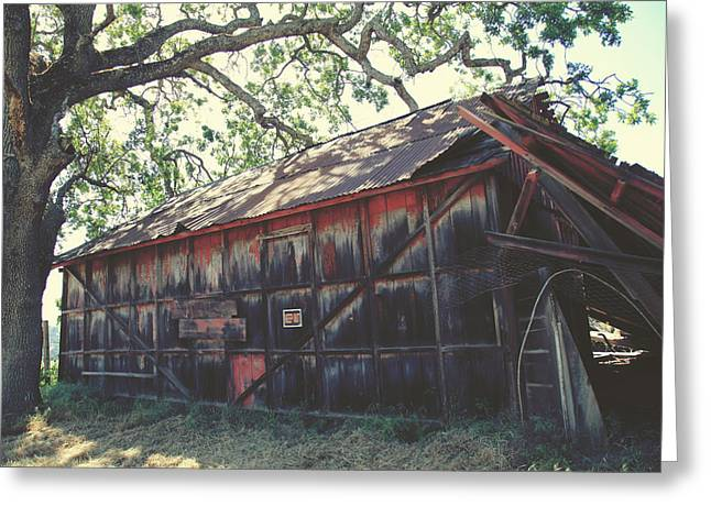 Dilapidated Photographs Greeting Cards - The Day Things Fell Apart Greeting Card by Laurie Search
