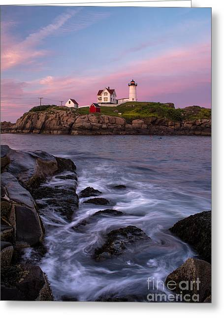 Maine Lighthouses Greeting Cards - The Days End Greeting Card by Scott Thorp