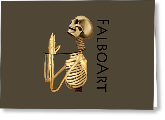 Coffin Greeting Cards - The Dead In Christ T-shirt 2 Greeting Card by Anthony Falbo