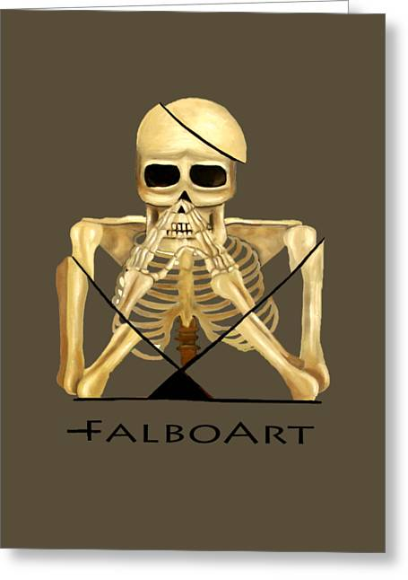 Coffin Greeting Cards - The Dead In Christ T-Shirt Greeting Card by Anthony Falbo