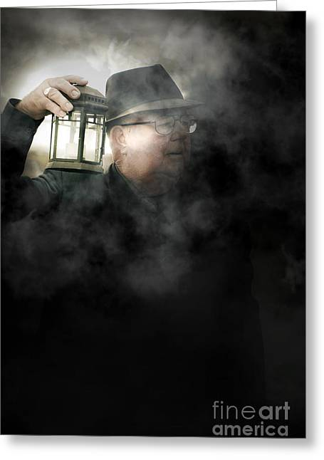 Night Lamp Greeting Cards - The Dead Of Night Greeting Card by Ryan Jorgensen