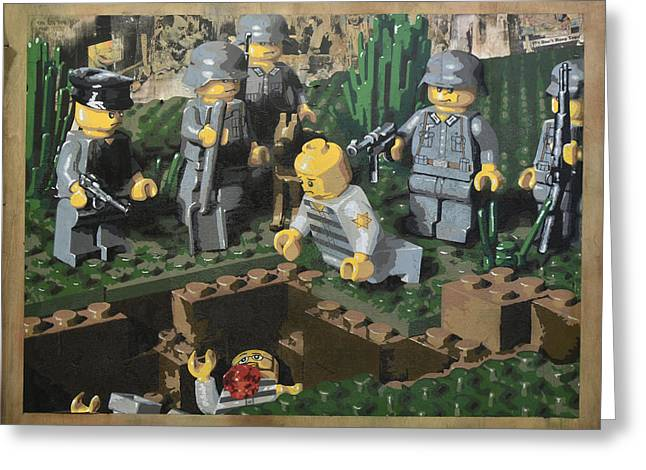 Lego Greeting Cards - The Death of 90064 Greeting Card by Josh Bernstein